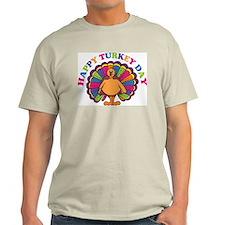 Happy Turkey Day Ash Grey T-Shirt