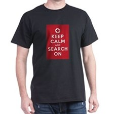 Keep Calm and Search On (First Aid symbol) T-Shirt