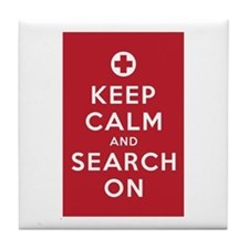 Keep Calm and Search On (First Aid symbol) Tile Co