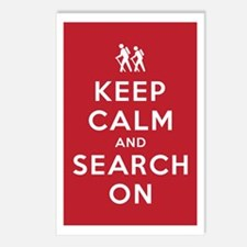 Keep Calm and Search On (Ground Pounders) Postcard