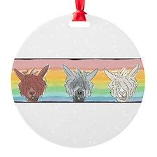 Alpaca Luv Trio Ornament