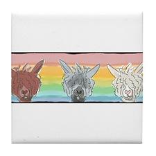 Alpaca Luv Trio Tile Coaster