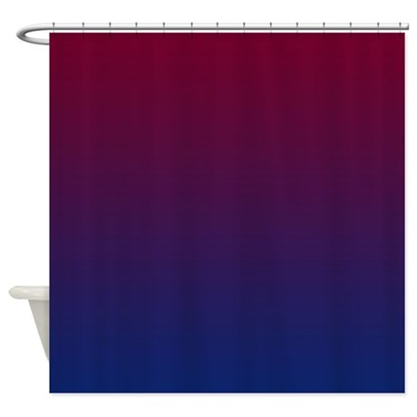 Red Blue Shower Curtain By CopperCreekDesignStudio