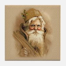 Old World Santa Tile Coaster