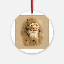 Old World Santa Ornament (Round)