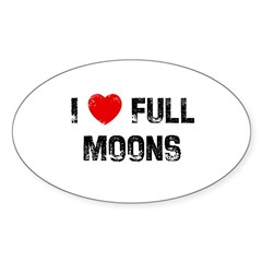 I * Full Moons Oval Decal