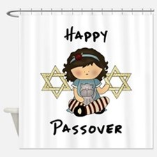 Happy Passover Girl Shower Curtain