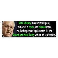 cheney... Bumper Bumper Sticker