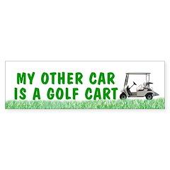 My other car is a golf cart Bumper sticker - grass