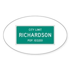 Richardson, Texas City Limits Decal