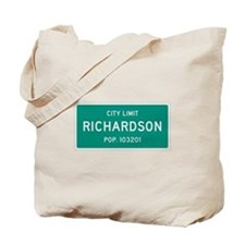 Richardson, Texas City Limits Tote Bag