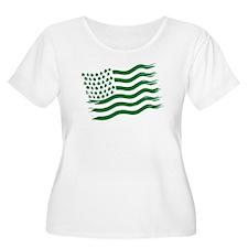 Women's Irish American Flag T-Shirt T-Shirt