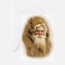 Old World Santa Greeting Cards (Pk of 10)