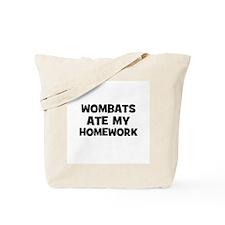 Wombats Ate My Homework Tote Bag