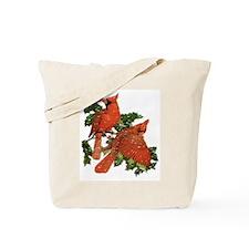 Christmas Cardinals Tote Bag