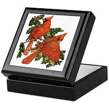 Christmas Cardinals Keepsake Box