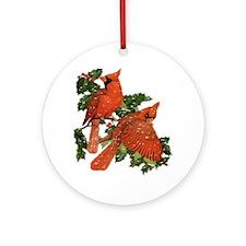 Christmas Cardinals Ornament (Round)