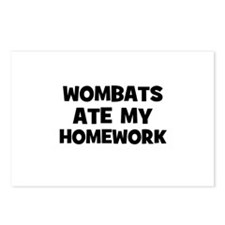 Wombats Ate My Homework Postcards (Package of 8)