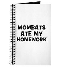 Wombats Ate My Homework Journal