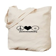PeaceLoveBreastfeeding Tote Bag