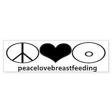 PeaceLoveBreastfeeding Bumper Bumper Sticker