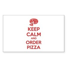 Keep calm and order pizza Decal