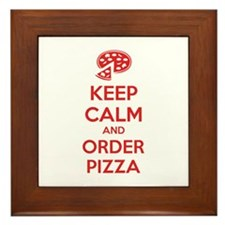Keep calm and order pizza Framed Tile