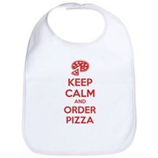 Keep calm and order pizza Bib