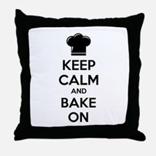 Keep calm and bake on Throw Pillow