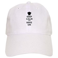 Keep calm and bake on Baseball Cap