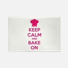 Keep calm and bake on Rectangle Magnet