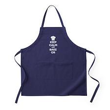 Keep calm and bake on Apron (dark)