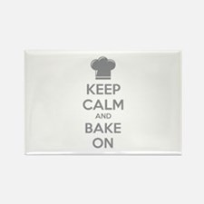 Keep calm and bake on Rectangle Magnet (100 pack)