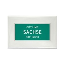 Sachse, Texas City Limits Rectangle Magnet