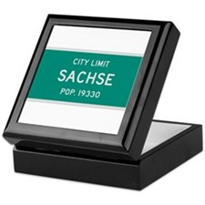 Sachse, Texas City Limits Keepsake Box