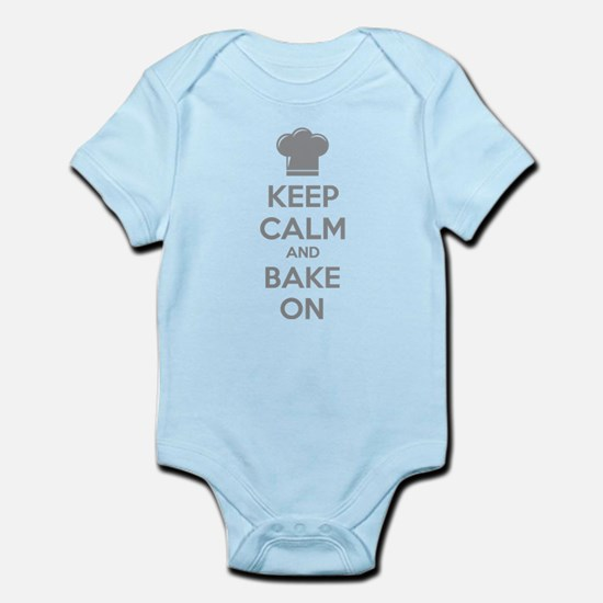 Keep calm and bake on Infant Bodysuit