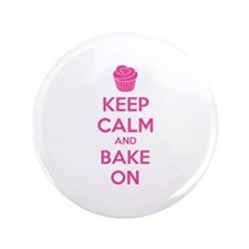 """Keep calm and bake on 3.5"""" Button"""