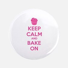 "Keep calm and bake on 3.5"" Button"