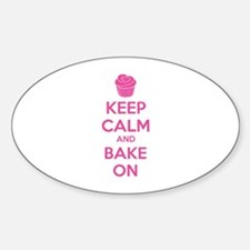 Keep calm and bake on Stickers