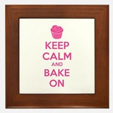 Keep calm and bake on Framed Tile