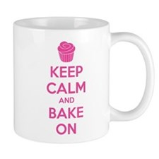 Keep calm and bake on Small Mugs