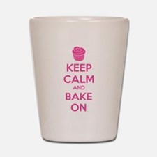 Keep calm and bake on Shot Glass
