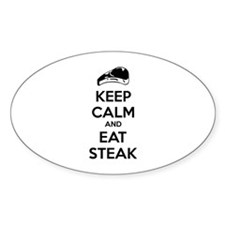 Keep calm and eat steak Decal