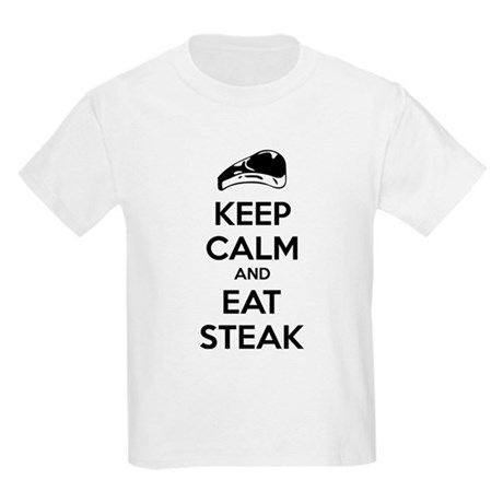 Keep calm and eat steak Kids Light T-Shirt