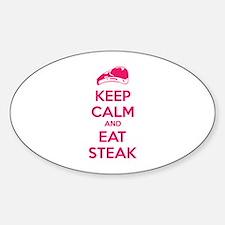 Keep calm and eat steak Decal