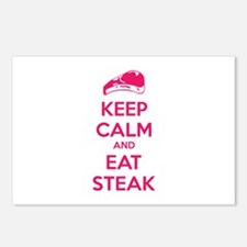 Keep calm and eat steak Postcards (Package of 8)