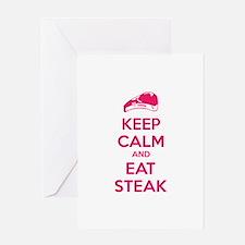 Keep calm and eat steak Greeting Card