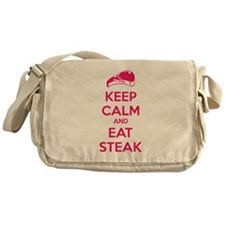 Keep calm and eat steak Messenger Bag