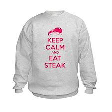Keep calm and eat steak Sweatshirt