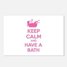 Keep calm and have a bath Postcards (Package of 8)
